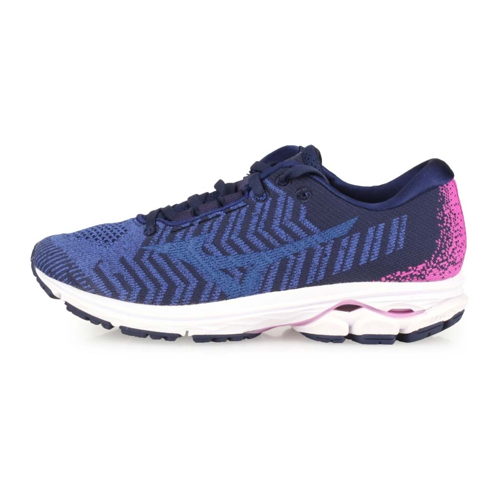 MIZUNO 女慢跑鞋 RIDER WAVEKNIT 3 藍丈青紫