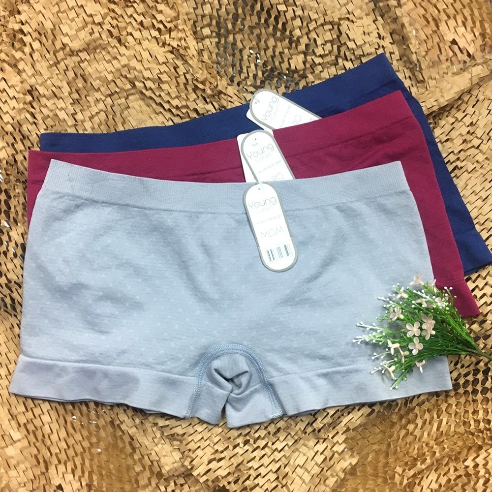 Young Curves 無縫緹花女兒童平口褲-混色3件組(C04200176)