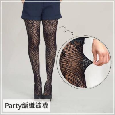 貝柔Party編織造型褲襪-愛心款