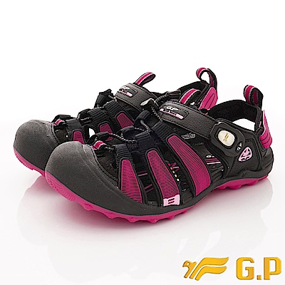 GP時尚涼拖  磁扣兩穿護趾涼鞋款-NI224W-15黑桃粉(女段)