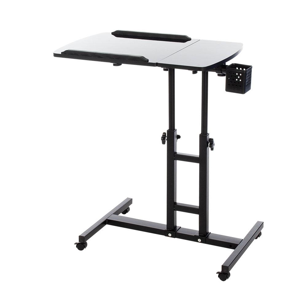 樂嫚妮 DIY 日式/360度升降工作桌/懶人桌/電腦桌/NB桌/邊桌-黑