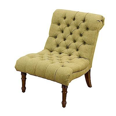Bernice-亞爵美式復古風布沙發單人座椅(綠色)