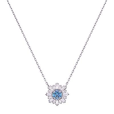 SWAROVSKI施華洛世奇 SUNSHINE 藍色水晶項鍊