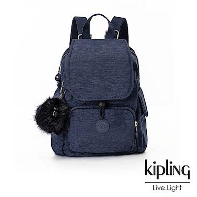 Kipling經典款星空藍掀蓋後背包(小)-CITY PACK MINI