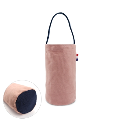 Kiiwi O! 輕便隨行系列帆布飲料袋 JOY 粉x藍