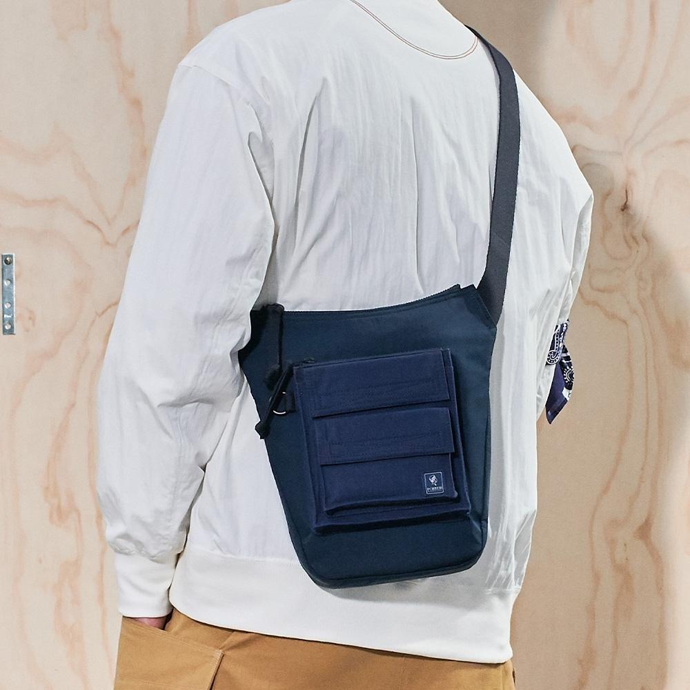 PORTER - 工裝展演TRADE修身型工裝斜背包 - 深藍