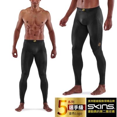 澳洲 SKINS 男款 5系列選手級壓縮長褲.緊身彈力褲.運動壓力褲_黑