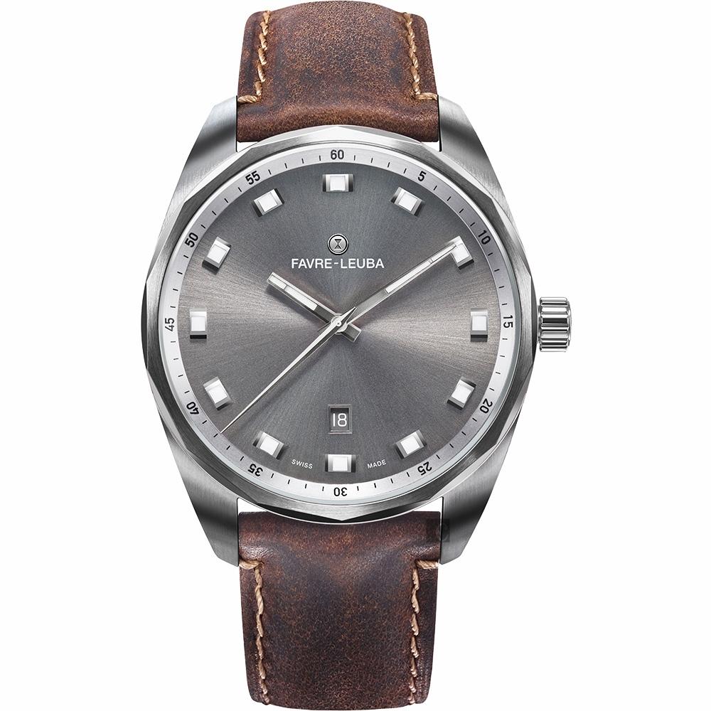 Favre-Leuba 域峰 SKY CHIEF DATE都會紳士機械手錶
