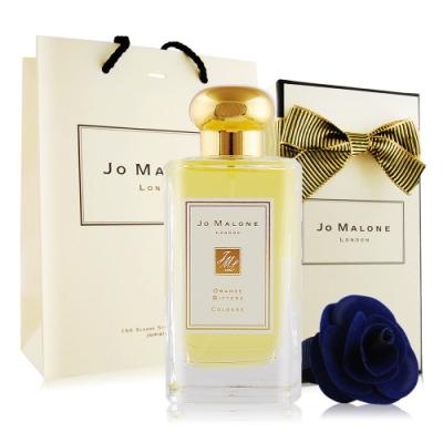 Jo Malone 苦橙香水100ml[含外盒+緞帶+提袋]+午夜藍玫瑰花飾