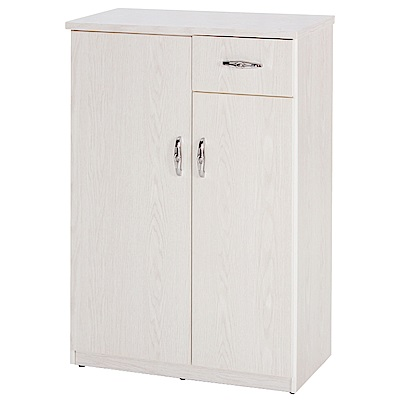 綠活居 阿爾斯環保2.5尺塑鋼二門單抽鞋櫃(二色可選)-74x37x112cm免組