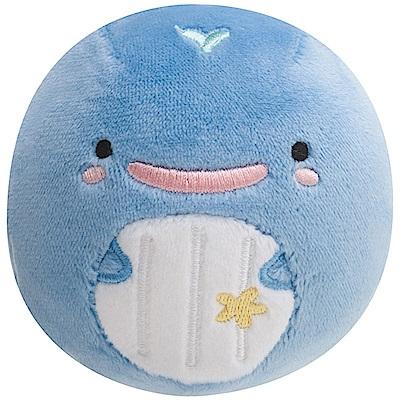 鯨鯊先生微笑的臉系列丸子QQ掌心公仔。微笑小藍鯨San-X