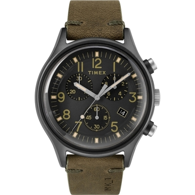 TIMEX 沙漠風暴計時皮帶腕錶-TW2R96600-42mm