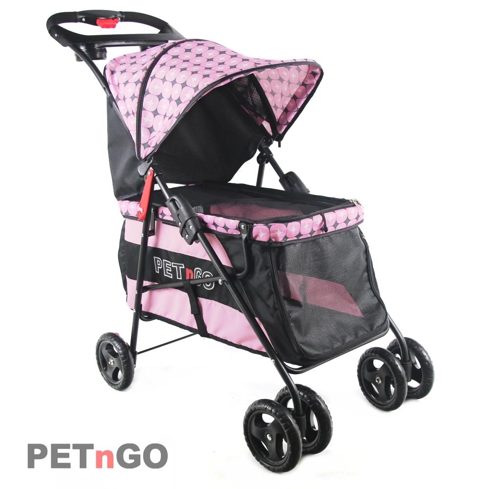 PETnGO 加大型寵物推車-粉紅星星