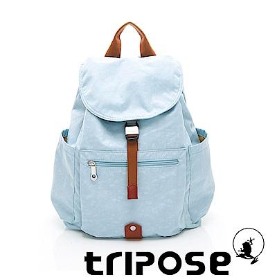 tripose MEMENTO系列微皺尼龍經典輕量後背包(大) 湖水藍