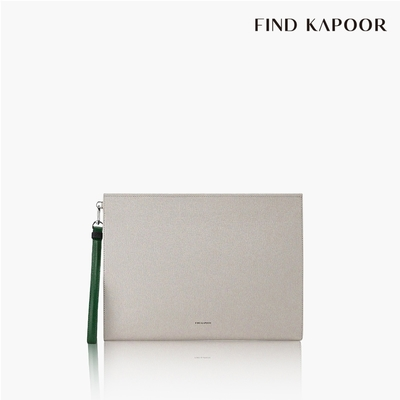 【FIND KAPOOR】CLUTCH 32 十字壓紋系列手拿包- 奶油色