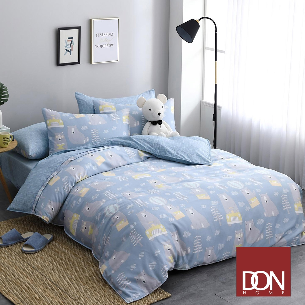 【DON】 吸濕排汗天絲兩用被床包組-單/雙/加 均一價 (頑皮寶貝)