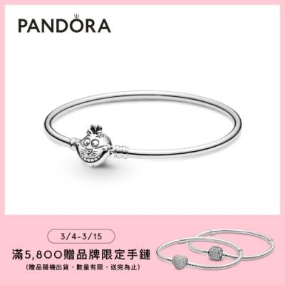 【Pandora官方直營】Pandora Moments 迪士尼《愛麗絲夢遊仙境》柴郡貓飾扣手環