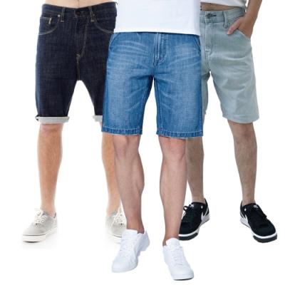 【時時樂限定】LEE 男款休閒短褲-五款選