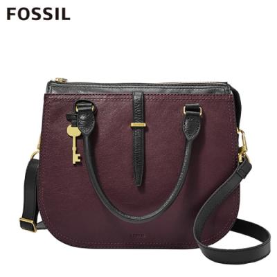 FOSSIL RYDER 小資女孩職場必備雙色手提側揹兩用包 ZB7807503
