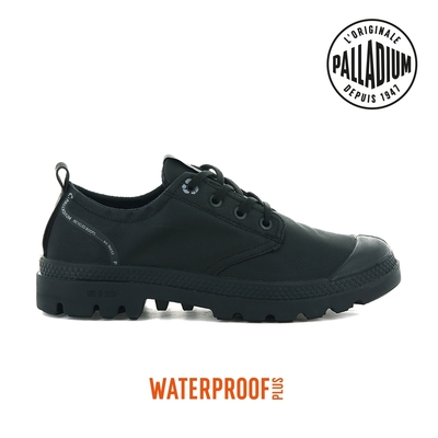 PALLADIUM OX LITE+ RCYCL WP+再生纖維低筒防水靴-中性-黑