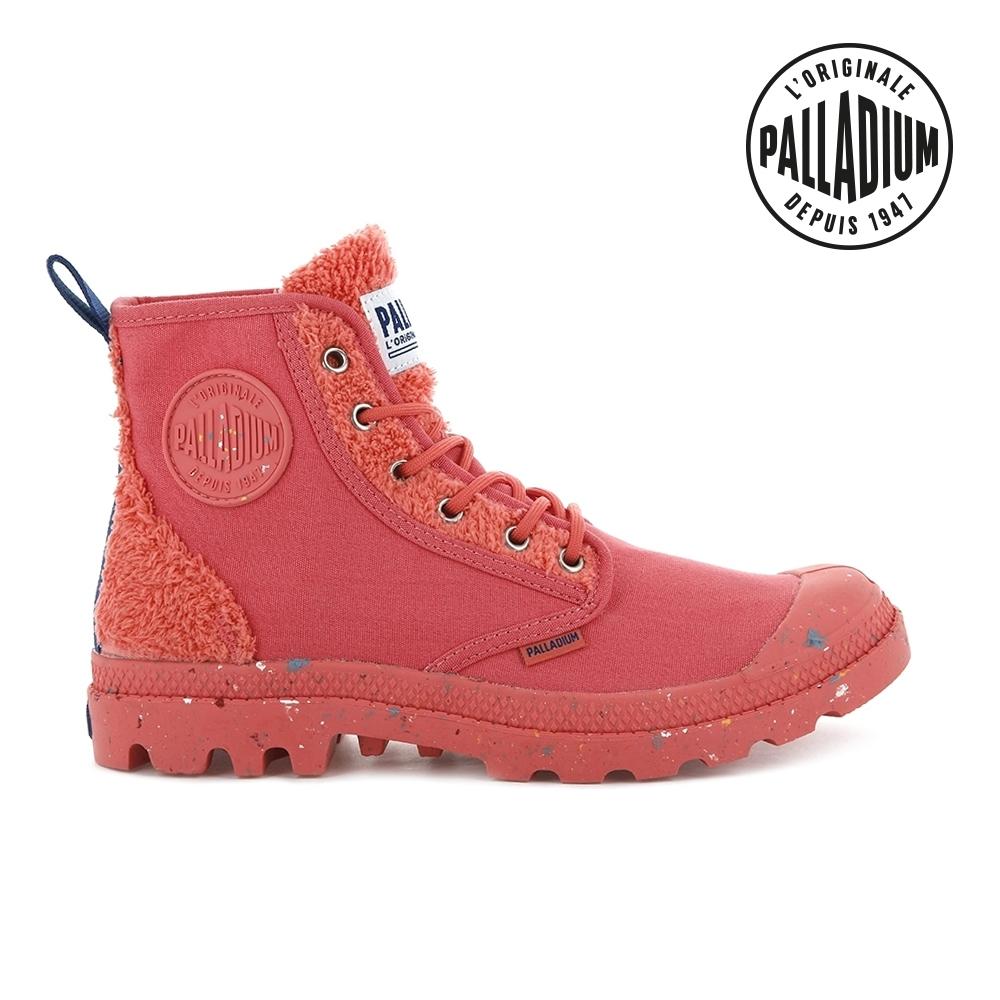 PALLADIUM PAMPA PILOU絨毛玩偶概念靴-中性-珊瑚粉