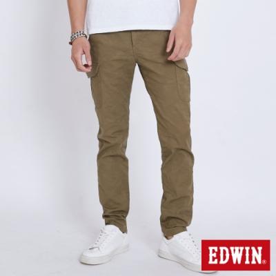 EDWIN KHAKI 迷彩休閒口袋工作褲-男-灰褐色