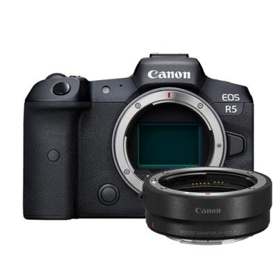 Canon EOS R5 單機身+原廠 EF-EOS R 鏡頭轉接環 (公司貨)