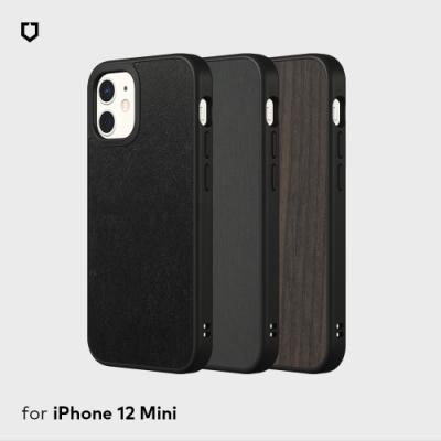 犀牛盾iPhone 12 mini Solidsuit皮革/橡木黑/髮絲紋防摔背蓋手機殼