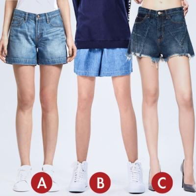 [時時樂限定]BRAPPERS 女款 寬版短褲(三款選)