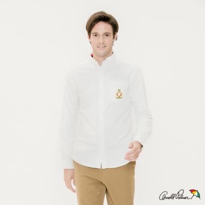 Arnold-Palmer-男裝-刺繡LOGO牛津襯衫-白