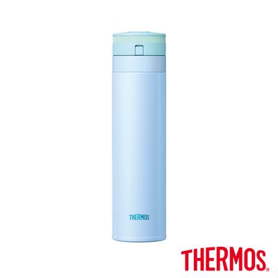 THERMOS膳魔師 超輕量自動上鎖 不鏽鋼真空保溫瓶0.45L(JNS-450-BL)