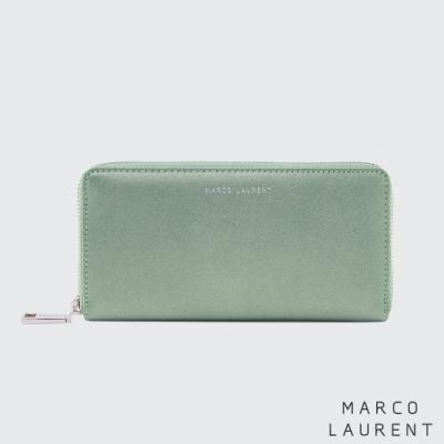 MARCO LAURENT Eternal 牛皮多層拉鍊長夾 - 珠光綠