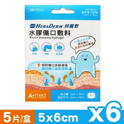 赫麗敷 HERADERM 水膠傷口敷料 5x6cm (5片X6盒)
