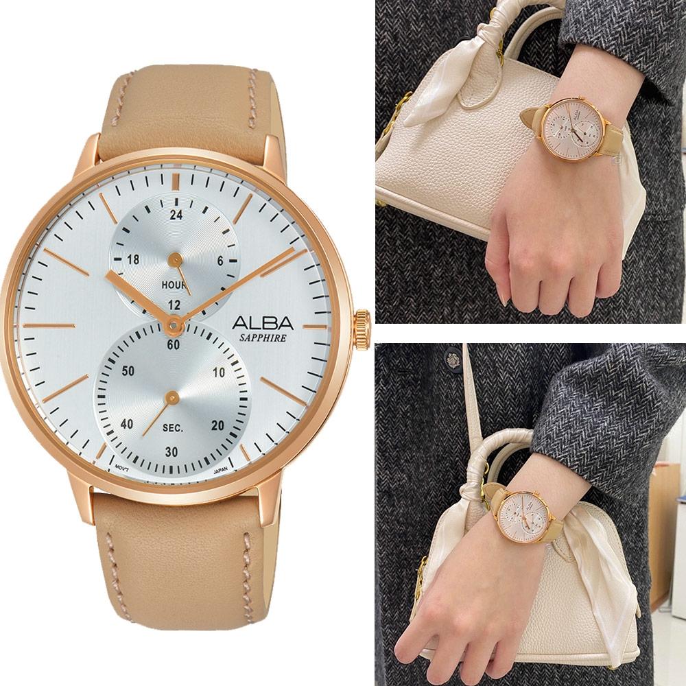 ALBA 文青時尚生活腕錶(A3A020X1)米色38mm