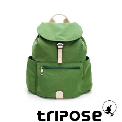 tripose MEMENTO微皺尼龍輕量後背包-大(草地綠)