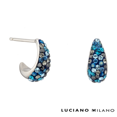 LUCIANO MILANO 藍眼淚純銀耳環