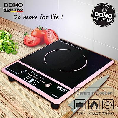 比利時DOMO不挑鍋歐風時尚電陶爐(DM8206KT)-櫻花粉