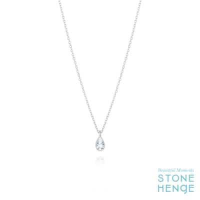 STONEHENgE 斯通亨奇 純銀水滴造型鋯石項鍊