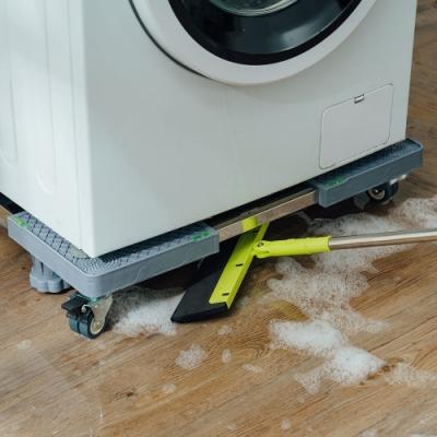 樂嫚妮 可伸縮調節洗衣機家電台座托架-四腳雙輪組