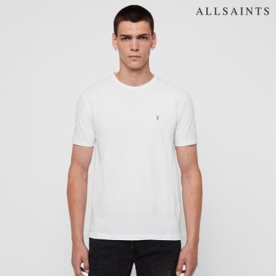 ALLSAINTS BRACE TONIC 公羊頭骨刺繡純棉修身短袖T恤