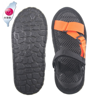 AC Rabbit 低均壓氣墊休閒涼鞋-橘色
