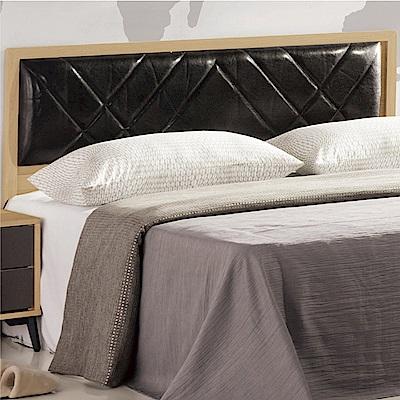 綠活居 米布亞時尚5尺皮革雙人床頭片-155x5x99cm免組