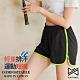 【Run Power】吸排拼色滾邊運動短褲(綠) product thumbnail 1