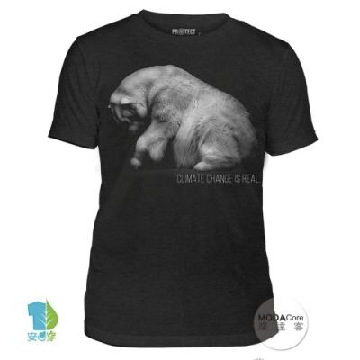 摩達客-美國The Mountain保育系列 拯救北極熊 中性短T恤 柔軟高級混紡