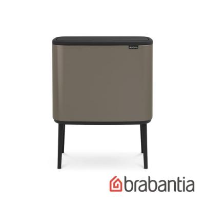 【Brabantia】BO TOUCH 時尚按壓式垃圾桶(11L+23L) 煤灰褐