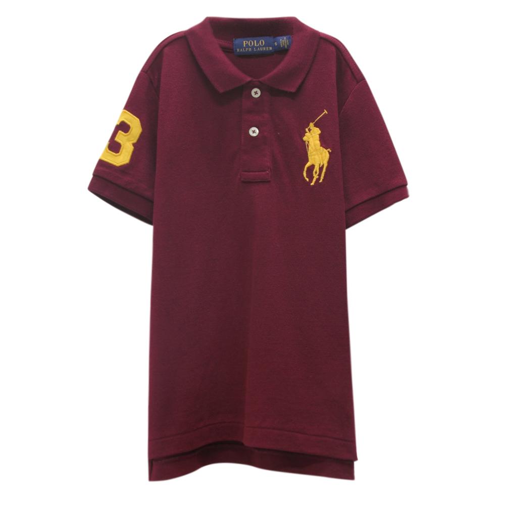 Ralph Lauren 童裝刺繡數字3經典大馬短袖POLO衫