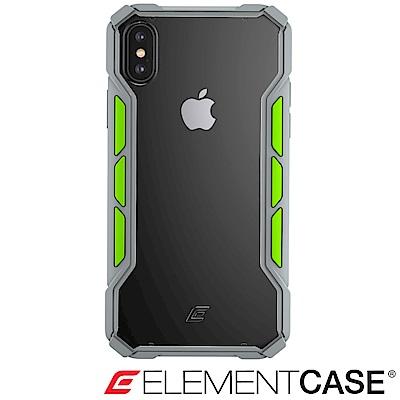 美國 ELEMENT CASE iPhone XS / X 專用拉力競賽防摔殼 -淺灰/綠