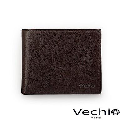 VECHIO - 經典商務男仕系列-8卡皮夾 - 棕