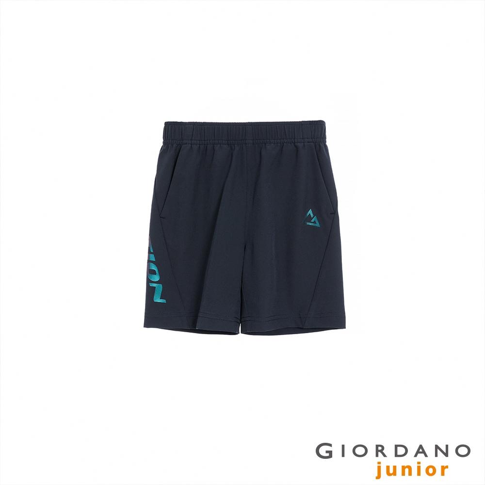 GIORDANO 童裝3M輕薄鬆緊腰短褲 - 36 標誌海軍藍