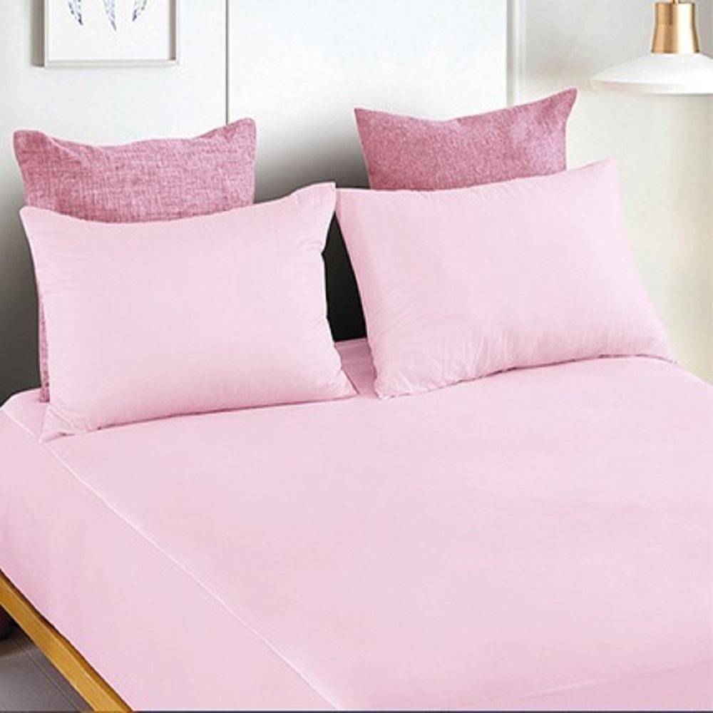 YCB護理級 100%防水防蟎抗菌床包式保潔墊 雙人-甜美粉